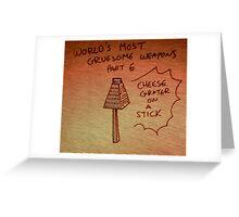 Gruesome Weaponry Greeting Card