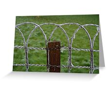 Frozen fence Greeting Card