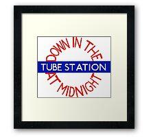 Down in the Tube Station Framed Print