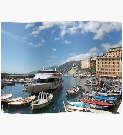 la mia bella ITALIA - CAMOGLI E IL SUO PORTICCIOLO-EUROPA-MONDO -  VETRINA RB EXPLORE APRILE 2013 -              Poster