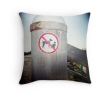 No Cats or Dogs Throw Pillow