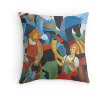 THE GALLEHUS HORN 1639 Throw Pillow