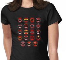 Power Rangers Forever Red V2 Womens Fitted T-Shirt