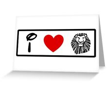I Heart The Lion King (Classic Logo) (Inverted) Greeting Card