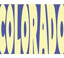 Colorado State Word Art by surgedesigns