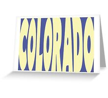 Colorado State Word Art Greeting Card