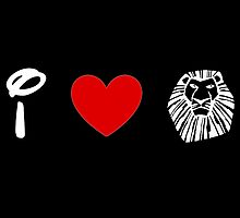 I Heart The Lion King (Classic Logo) (Inverted) by ShopGirl91706