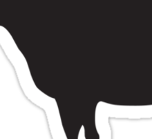 Burping cows cause havoc to the climate Sticker