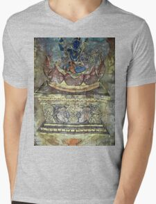 Yoga of Sleeping - Lion throne detail Mens V-Neck T-Shirt