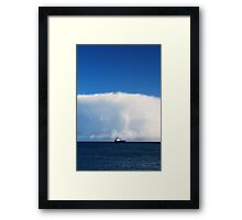 Big Ship, Bigger Cloud Framed Print