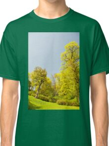 Green spring trees vibrant nature Classic T-Shirt