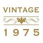 Vintage 1975 Birth Year by thepixelgarden
