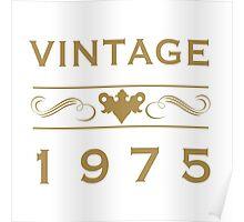 Vintage 1975 Birth Year Poster