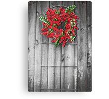 Holly Berry Wreath Canvas Print