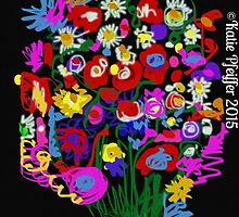 Mod Pop Art Flower Bouquet by Kater