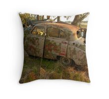 A rolling car gathers no moss Throw Pillow