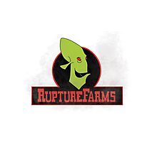 Rupture farms logo Photographic Print