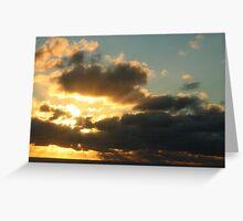 Sunset from Rarotonga, Cook Islands Greeting Card