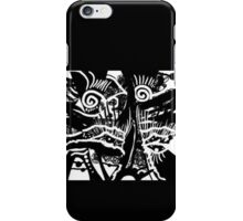 Crazy man - White and black iPhone Case/Skin