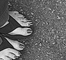 Feet and Flip Flops  by Wendy Mogul