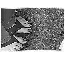Feet and Flip Flops  Poster