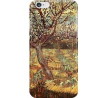 'Apricot Trees In Blossom' by Vincent Van Gogh (Reproduction) iPhone Case/Skin
