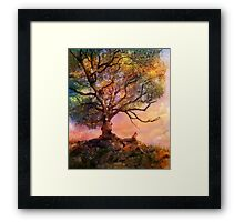 Sunset at Fox Mountain Framed Print