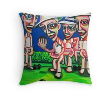 Action On The Green (final version) Throw Pillow