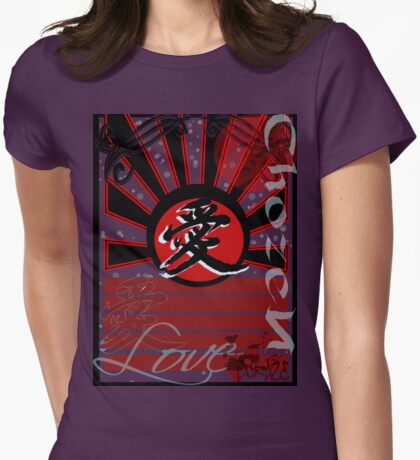 Kanji - Love... A Winter Love Story Womens Fitted T-Shirt