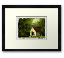 Country Church 2... prints and products Framed Print