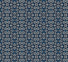 Floral Print Seamless Pattern in Cold Tones by DFLC Prints