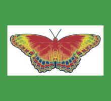 Colorful Butterfly - Red Kids Clothes