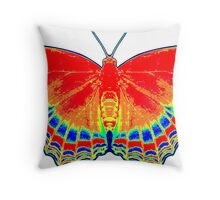 Colorful Butterfly - Red Throw Pillow