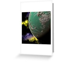 Green Planet Greeting Card