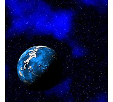 Blue World Photographic Print
