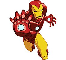 Iron Man Cartoon Photographic Print