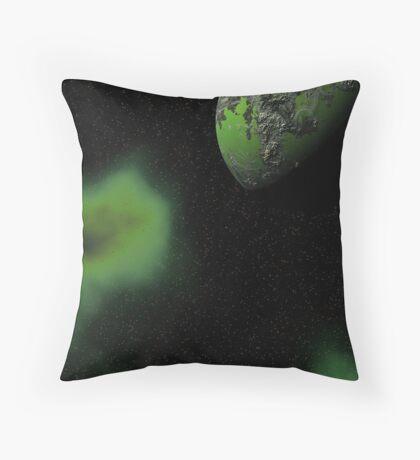 Toxic Cosmos Throw Pillow