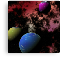 Orbiting Worlds Canvas Print