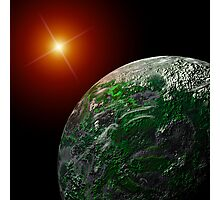 Bright Moon and Planet Photographic Print