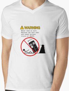Doctor's Warning Mens V-Neck T-Shirt