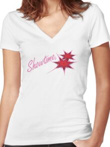It's Showtime, Synergy! Women's Fitted V-Neck T-Shirt