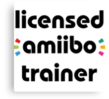 Licensed amiibo trainer Canvas Print