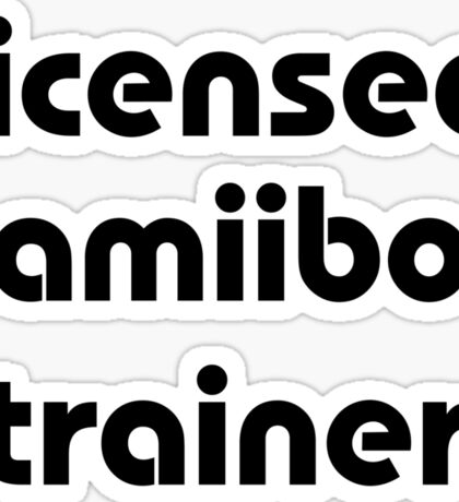 Licensed amiibo trainer Sticker
