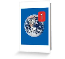 Earth Note. Greeting Card