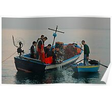 FISHERMEN CLAIMING THEIR REWARD, SCILLA, ITALY Poster