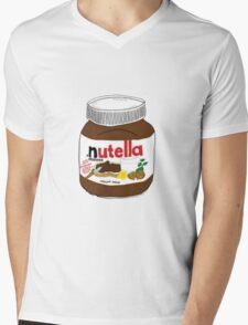 Nutella Drawing Mens V-Neck T-Shirt