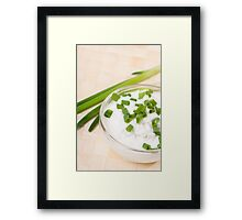 A bowl of cottage cheese Framed Print