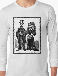 Skeleton Wedding (Border) Long Sleeve T-Shirt