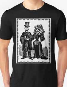 Skeleton Wedding (Border) Unisex T-Shirt