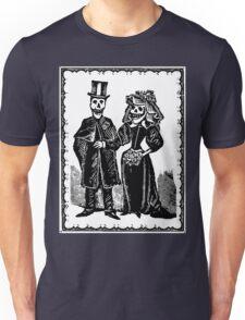 Skeleton Wedding (Border) Unisex T-Shirt